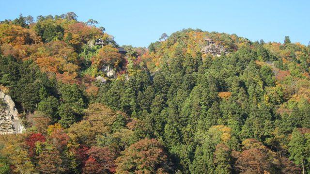 山寺駅から見る風景